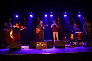 Tel Aviv-based group theAngelcy on stage in Košice.