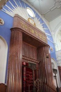 Inside the Orthodox synagogue, Košice.