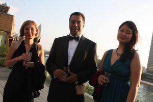 Class NK trio. From left: Katalin Der, Dr Abdul Rahim, Angie Cheung.