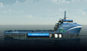 Harvey Gulf's LNG fuelled Platform Supply Vessel