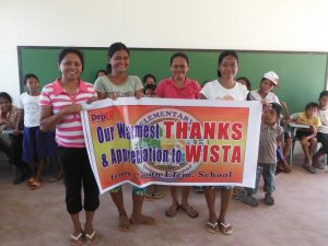 Local people thank WISTA Philippines for its support of school buildingproject.