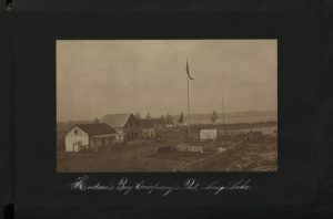 Hudson's Bay Company post at Long Lake, Canada, 1913. Colonial Office photographic collection at The National Archives, Kew.