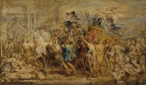 The Triumph of Henri IV, 1630. Oil on panel. By Rubens. Lent by The Metropolitan Museum of Art, Rogers Fund, 1942. Image copyright The Metropolitan Museum of Art/Art Resource/Scala, Florence.