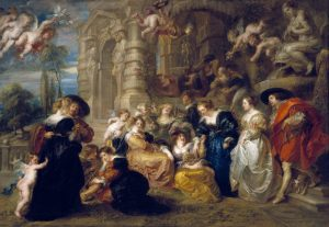 The Garden of Love, c 1633. Oil on canvas. By Rubens. Museo Nacional del Prado, Madrid. Photo copyright the Prado.