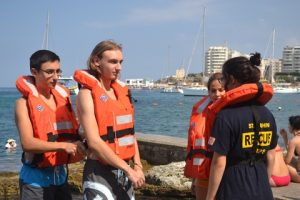 St.John Rescue Corps (Malta) with their lifejackets.