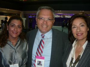 Despina Doxaki from Charbourne & Park LLP with ATHEX's  Pantelis Lambru, Compliance division and Peggy Papastavrou, Legal division