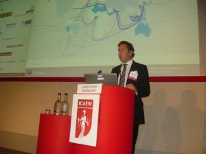 Christopher Bergsland presenting the LNG sector's overview