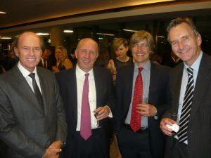 Andeas A. Tsavliris, IUMI's Nicholas Gooding and Charles Hume from the SHIPOWNERS