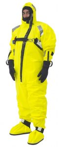 VIKINGs multi-layer flagship immersion suit in 'hi vis' yellow approved without a lifejacket