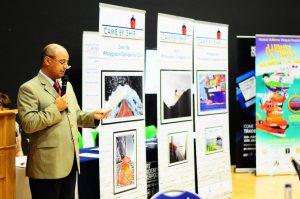 Horacio Vázquez introduces his book to WISTA-UK meeting.