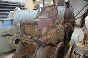 Jacking gear corroded