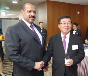 l to r: Sheikh Talal Al-Khaled Al-Ahmad Al-Sabah, Chief Executive Officer of KOTC with Mr. Noboru Ueda, Chairman and President of ClassNK