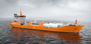 The upgraded SK5054 tanker design.