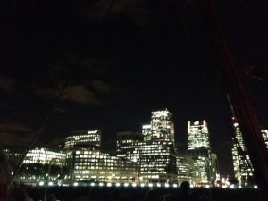 Passing the lited Canary Warf