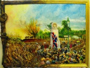 Cover art in mixed medium by Tim Feltham for the book Lest We Forget: Beckenham and the Great War by Pat Manning and Ian Muir.