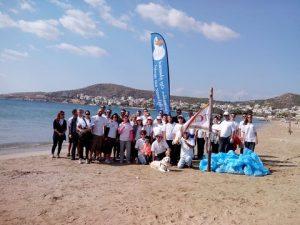 Cleanup of Varkiza beach by Tsakos Columbia Shipmangement-Entrust Maritime.