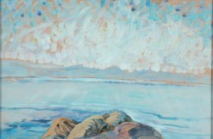 Untitled (seascape), 1935. Oil on paper mounted on board. By Emily Carr. Art Gallery of Greater Victoria.