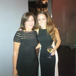 Irene Notias with pop singer Kalomira