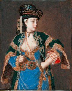 Laura Tarsi. Body colour on ivory. By Jean-Etienne Liotard. Photo copyright Fitzwilliam Museum, Cambridge.