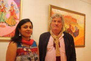 Namita Jain with James Horton of the Royal Society of British Artists.