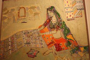 Weaving. Acrylic and mixed media. By Namita Jain.