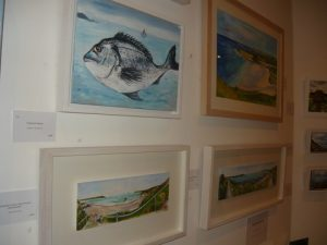The seawise...art depicted with the Cornish Bream and other watery paintings!