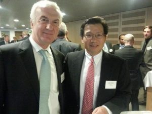 Tom Boardley, LR's Marine Director and Gerry Wang