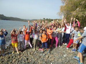 Young volunteers in Mytilene