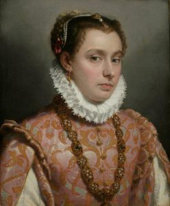 Young Lady, c 1560-65. Oil on canvas. By Giovanni Battista Moroni. Privatecollection.