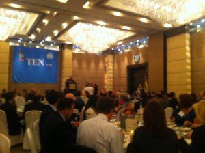 At lunch, Mr Nikolas Tsakos, President and CEO of TEN Ltd.