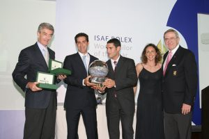 Anton Paz (middle) was awarded the trophy in 2005