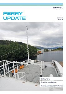 The front cover of DNV GL's Ferry Update 01-2014