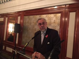 The Danish Ambassador to the UK, His Excellency Claus Grube responding