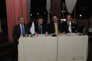 Mr. S. Zolotas, Area Manager Greece & Cyprus, Mr. A.Tsirigakis, Chairman of HTC, Mr. S.Bertilone, General Manager RGMA & Mr. P. Moretti, General Manager, Business Solutions, Marine