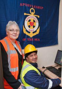 Sr Marian and seafarer