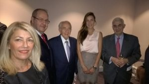 Anny Zade, Prof. Costas Th. Grammenos, Spyros M. Plemis, the Ambassadress of Panama Ana Irene Delgado and Themis Vokos
