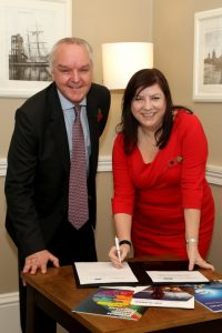 ABP Director, Humber, John Fitzgerald and Chief Executive of Wakefield Council Joanne Roney sign the Memorandum of Understanding (image courtesy of ABP/David Lee Photography)