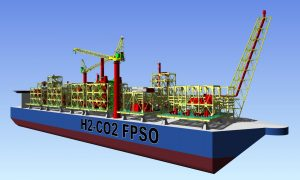 Concept design of MHI and Chiyoda Corporation's H2-CO2 FPSO