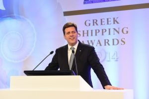 1)Minister of Shipping and the Aegean, Miltiadis Varvitsiotis greeted the audience with a welcome address.