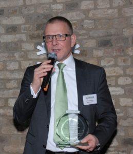 Erik Eisenberg, APM accepting Personality of Year Award on behalf of Michael Storgaard, Maersk Line