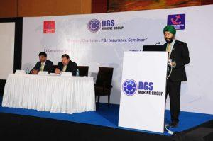 Captain Kavinit Uberoi, DGS Marine, speaking at P&I Seminar in Mumbai