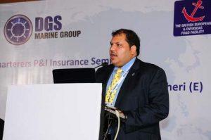 Captain Nigel Moniz, DGS Marine, speaking at P&I Seminar in Mumbai