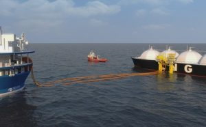 Cylindrical FLNG with HiLoad offloading