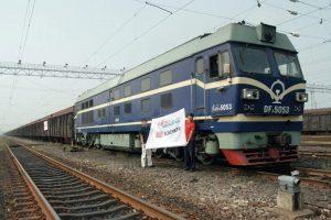 Train about to leave Xiangtang. Originator: DB Schenker.Copyright Deutsche Bahn AG