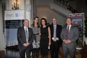 H.E.The British Ambassador, Mr. John Kittmer, Professor Spyros Maniatis, Mrs. Natalia Margioli, Dr. Tina Loverdou, Professor David Sadler,