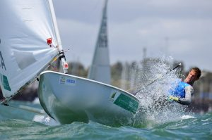 Matthew Wearn (AUS) Racing -Day 4 / Laser ISAF Sailing World Cup - Melbourne Sandringham Yacht Club Thursday 11 December 2014 © Sport the library / Jeff Crow
