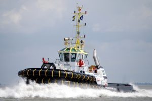 The 83 tonne bollard pull ASD Damen-designed  Multratug 19