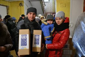 UNDP provides assitance to internally displaced persons in Sievierodonetsk, a city in the Luhansk Oblast (province) of south-eastern Ukraine. Photo: UNDP Ukraine