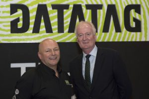 l to r Howard Pridding, Chief Executive, British Marine Federation and  Kevin Howells, Managing Director of Datatag, announcing their partnership at the CWM FX London Boat Show