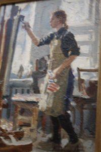 Evgenia Painting. Oil. By Alexei Kalinin.